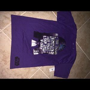 New with tag purple Star Wars T-shirt Disney